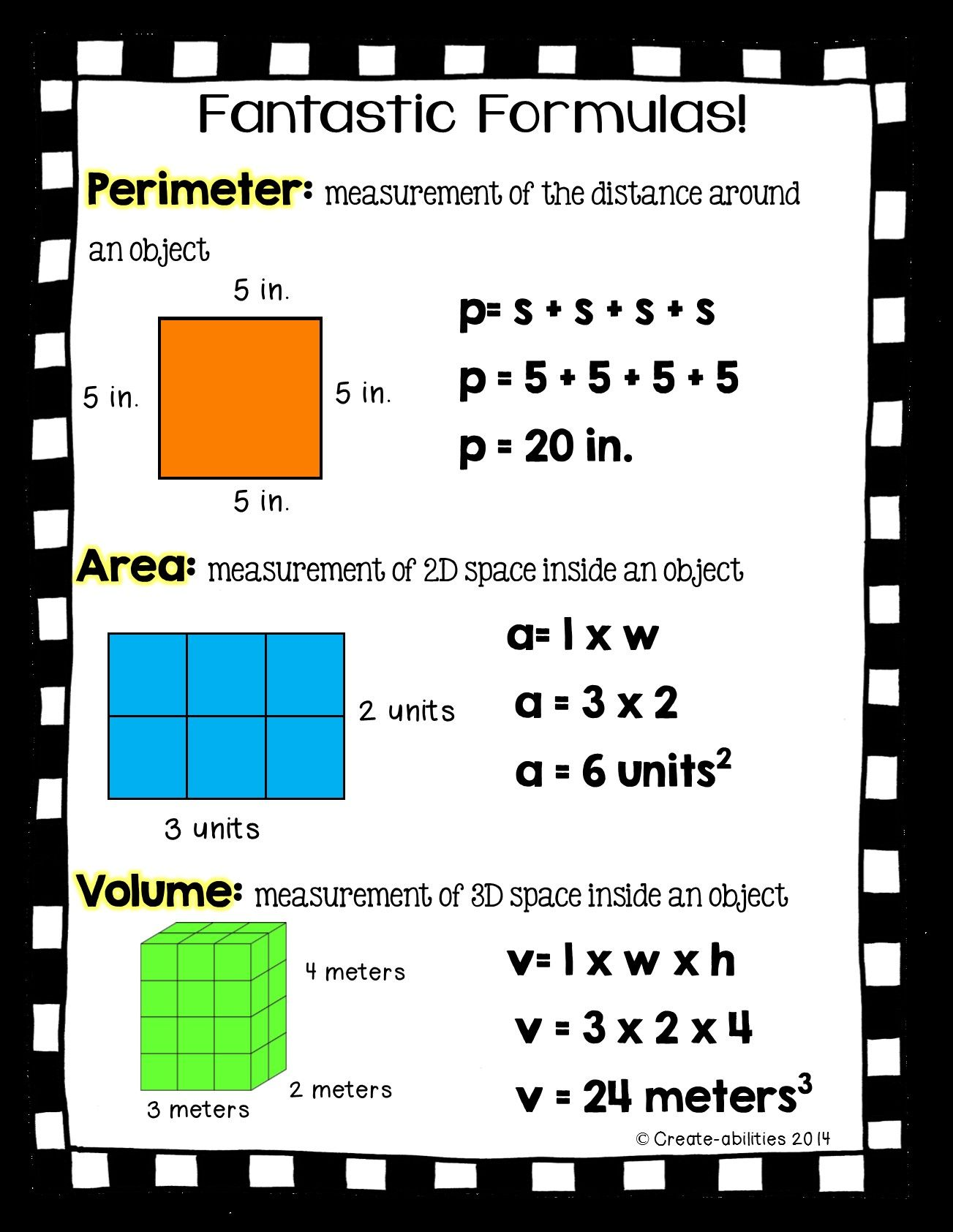 6 General Area And Perimeter 4th Grade Worksheets In