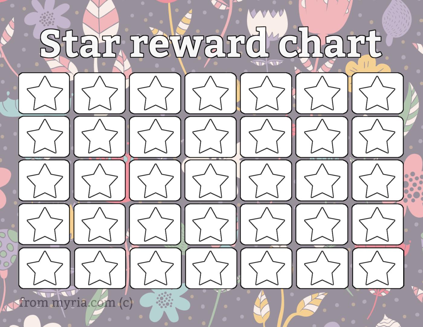 8 Free Printable Reward Charts Fill In The Stars
