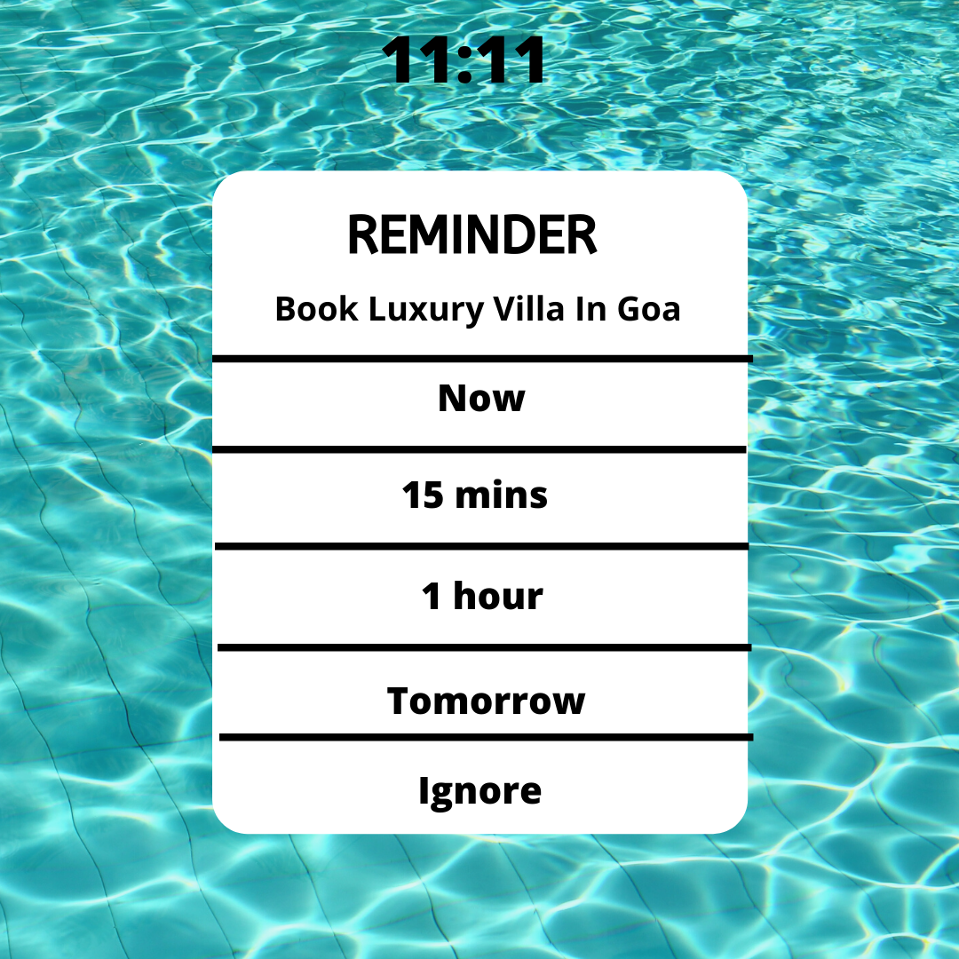 Just a Friendly Reminder, Book Luxury Villa Today.   Contact :- 7030080099  #VillaGoa #villasingoa #rentvilla #LuxuryVillasinGoa #luxuryhomes #micasasucasa #PrivatePoolVillas #Goa #Travel #TravelGoals #Traveller #traveltogoa #Travelwithfriends #travelwithfamily #exploregoa #pool #instatravel #luxurystay #weekendgetaway #weekendvibes #Vacay #staycation #holidays #beautifuldestinations #YOLO #airbnb #curlytales #lbbgoa #goodvibes