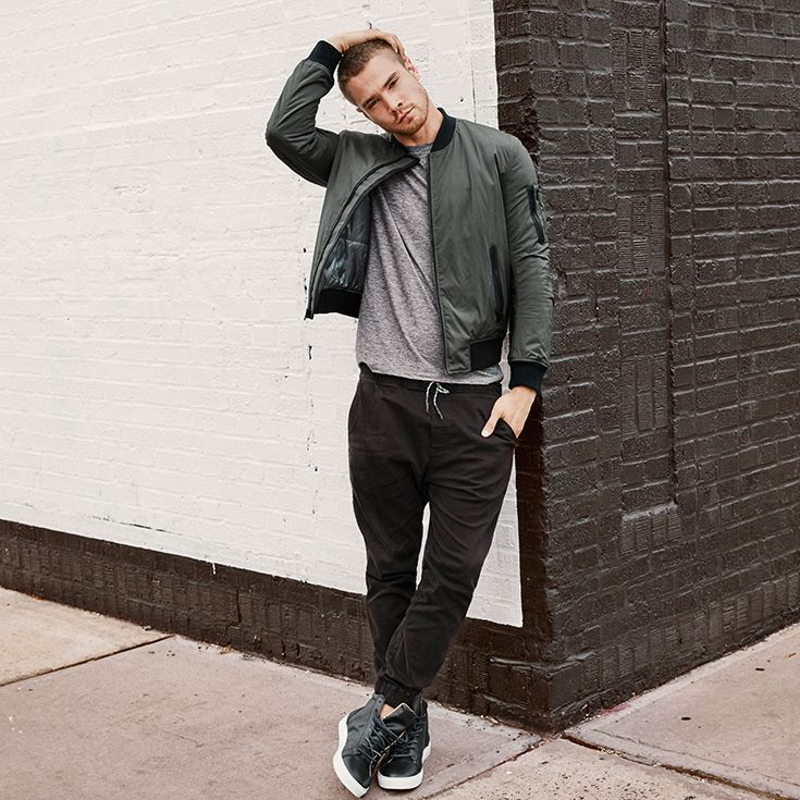 Athletic styles with utility details. Mens clothing