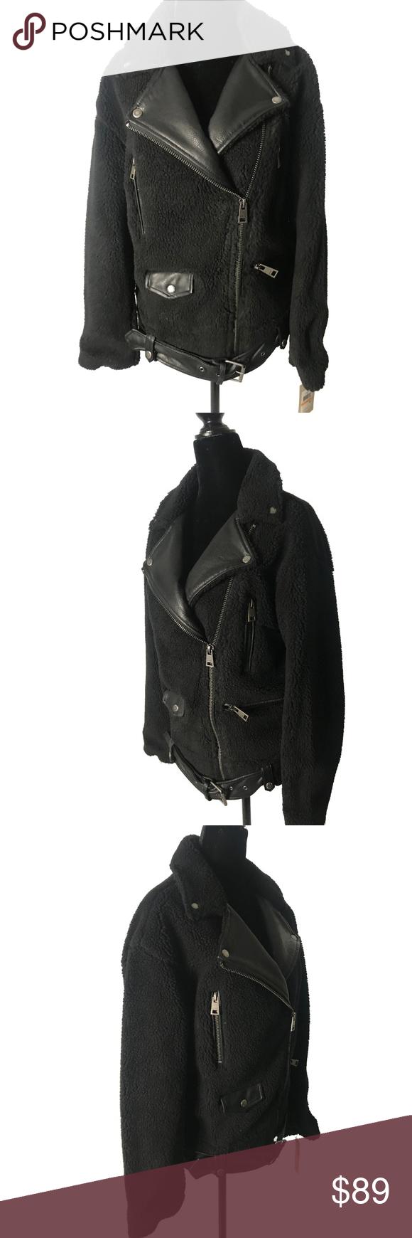 Levi's® Sherpa Oversized Belted Motorcycle Jacket Levi's