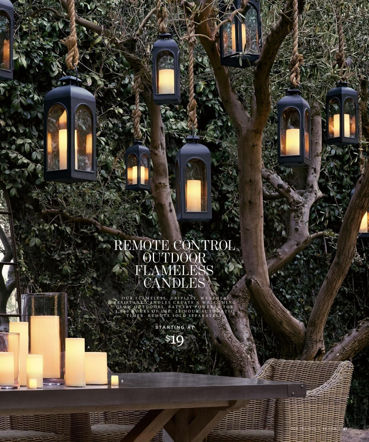 Lanterns Suspended From Trees Use Led Remote Control Candles Inside So They Light Instantly With The Fli Diy Outdoor Lighting Outdoor Lanterns Outdoor Trees