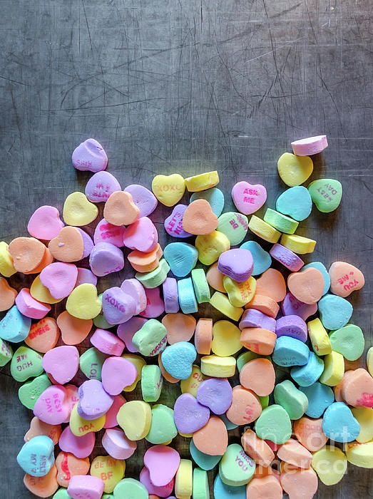 Candies 2 by Andrea Anderegg #valentinesday #valentine #candies #sweetheart #colorful #valentinegreetingcards #wallart #art #iloveyou #springcolors