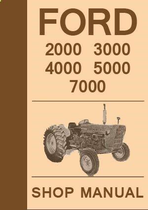 ford tractor workshop manual 2000 3000 4000 5000 7000 1965 1975 rh pinterest com  Harley Davidson Vin