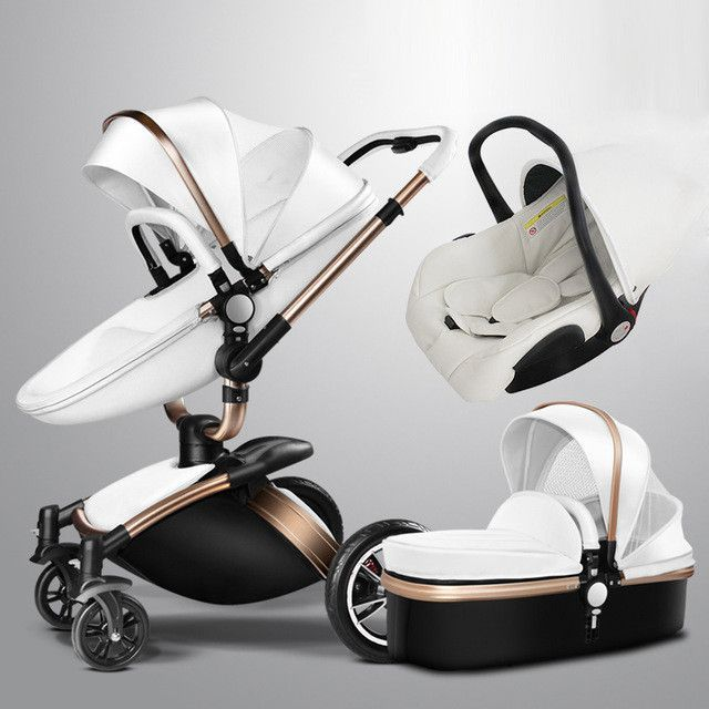 681e8b4b6 Baby Stroller 3 in 1 With Car Seat High View Pram For Newborns ...