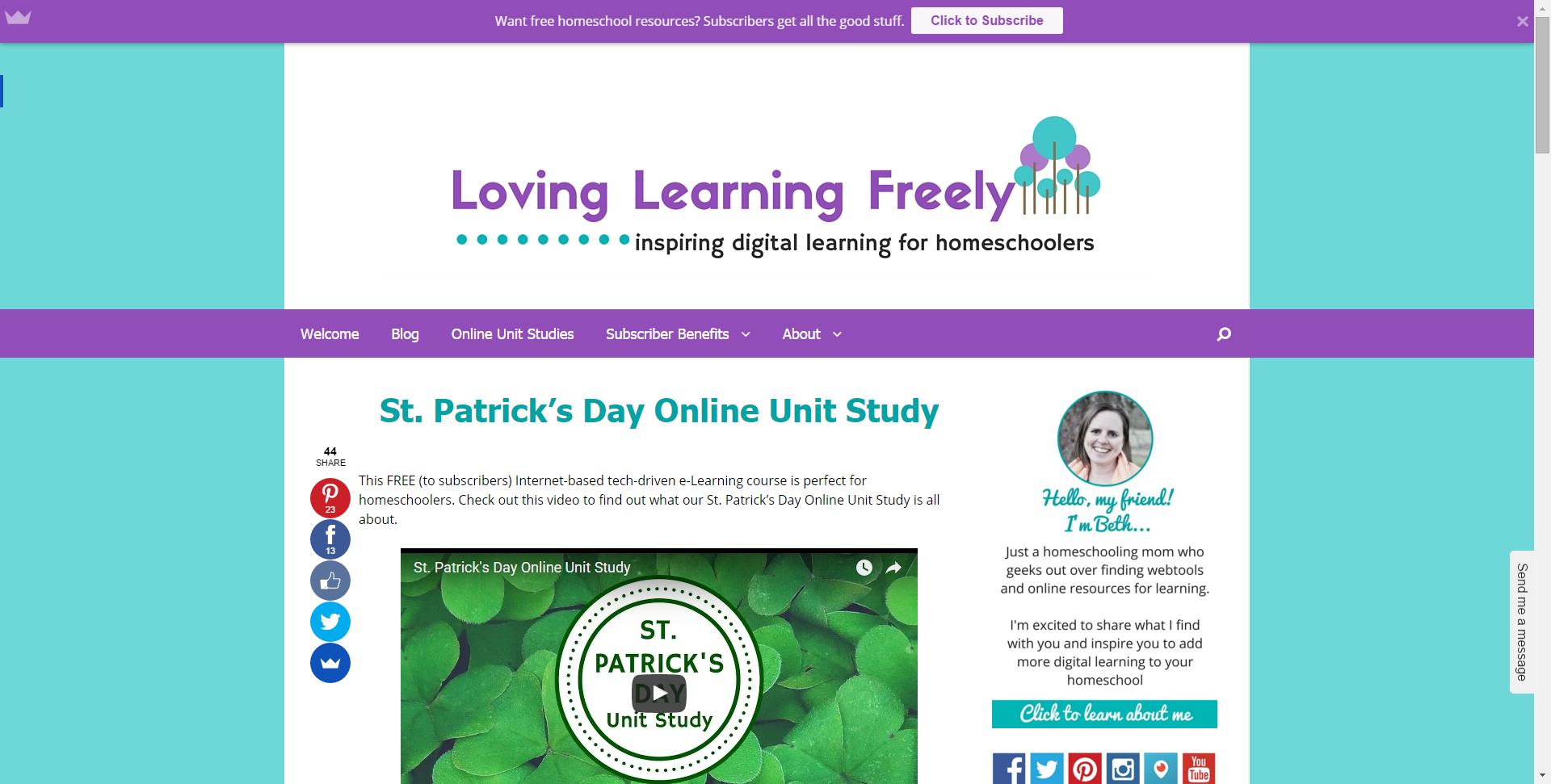 St Patrick S Day Online Unit Study