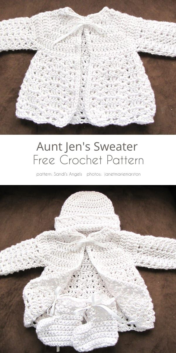 See 5 Best Baby Jacket Free Crochet Patterns