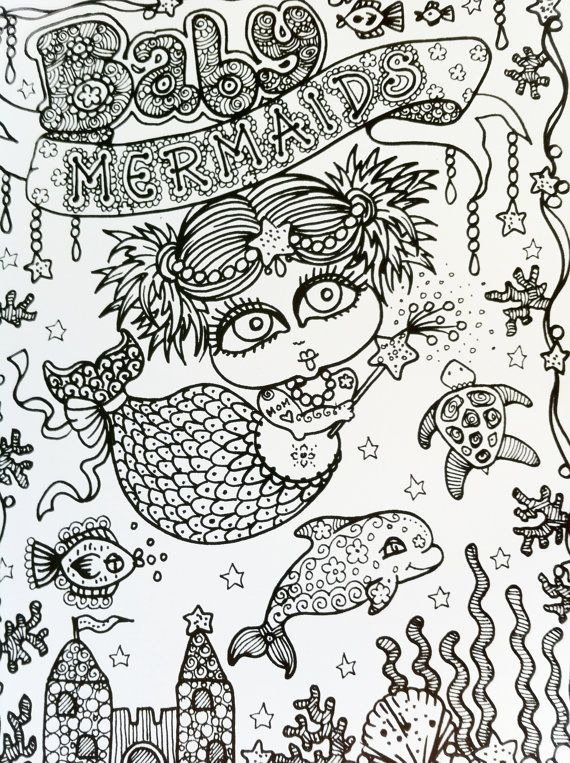 BABY Mermaids Coloring Book You be the Artist by ChubbyMermaid ...