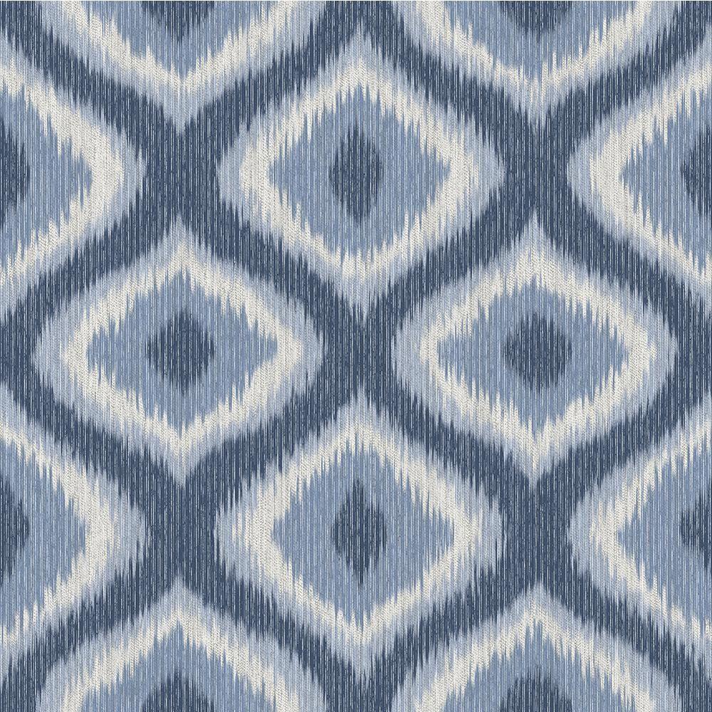 Abra Blue Ogee Wallpaper Sample
