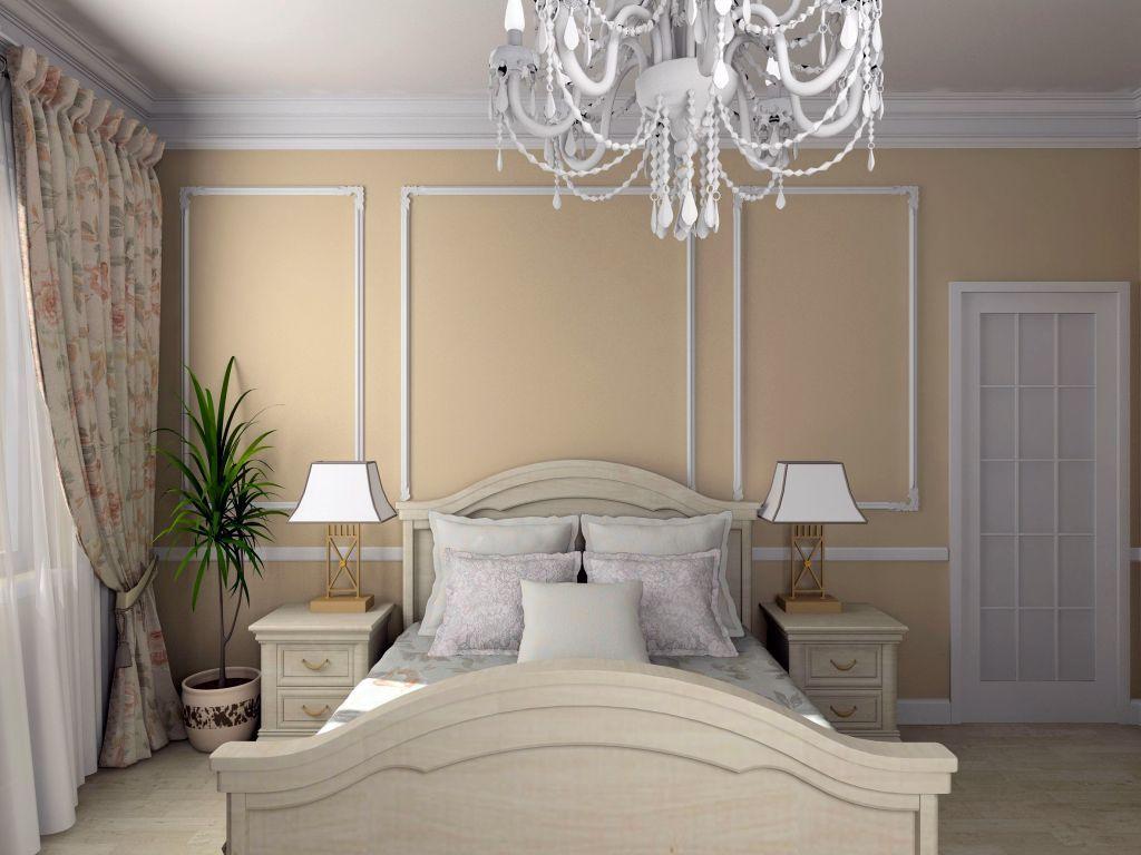 cream colored bedroom