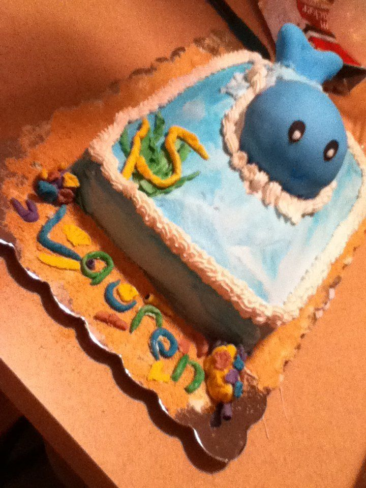 Baby Blue Whale Birthday Cake Cakes Pinterest Birthday cakes