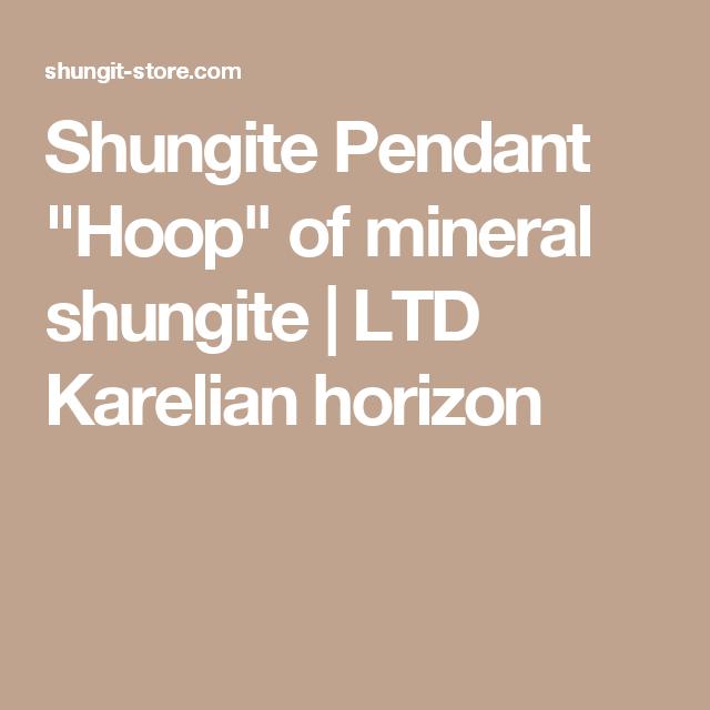 "Shungite Pendant ""Hoop"" of mineral shungite | LTD Karelian horizon"