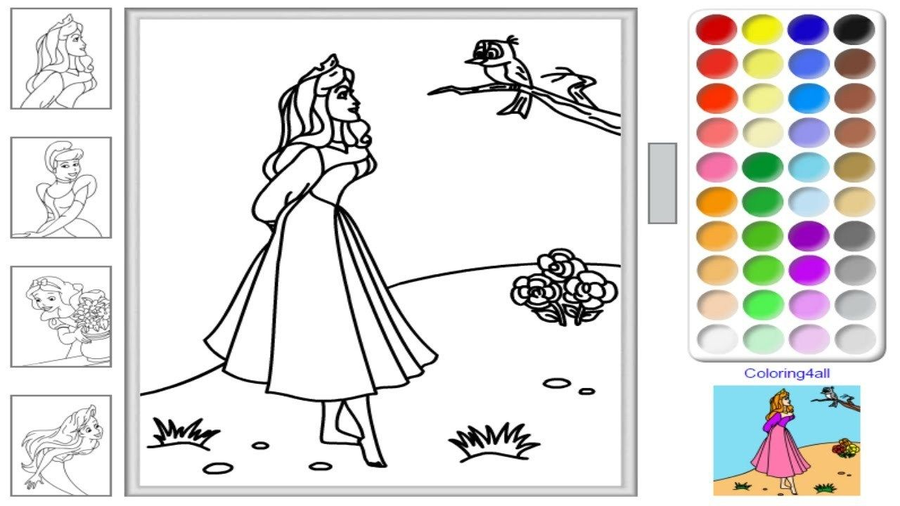 Disney Princess Coloring Page Free Disney Princess Online Coloring Pages Disney Princess Birijus Com Disney Princess Coloring Pages Disney Coloring Sheets Free Online Coloring