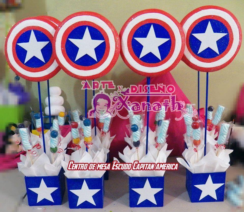Centro De Mesa Capitán América: Centro De Mesa Del Capitan America