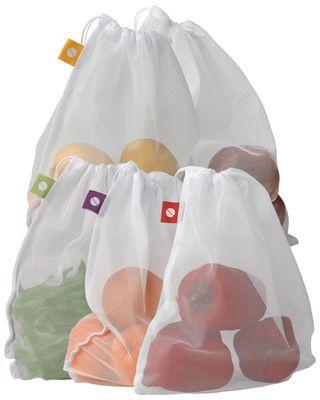 Gardener's  Produce Bags, Set Of 5