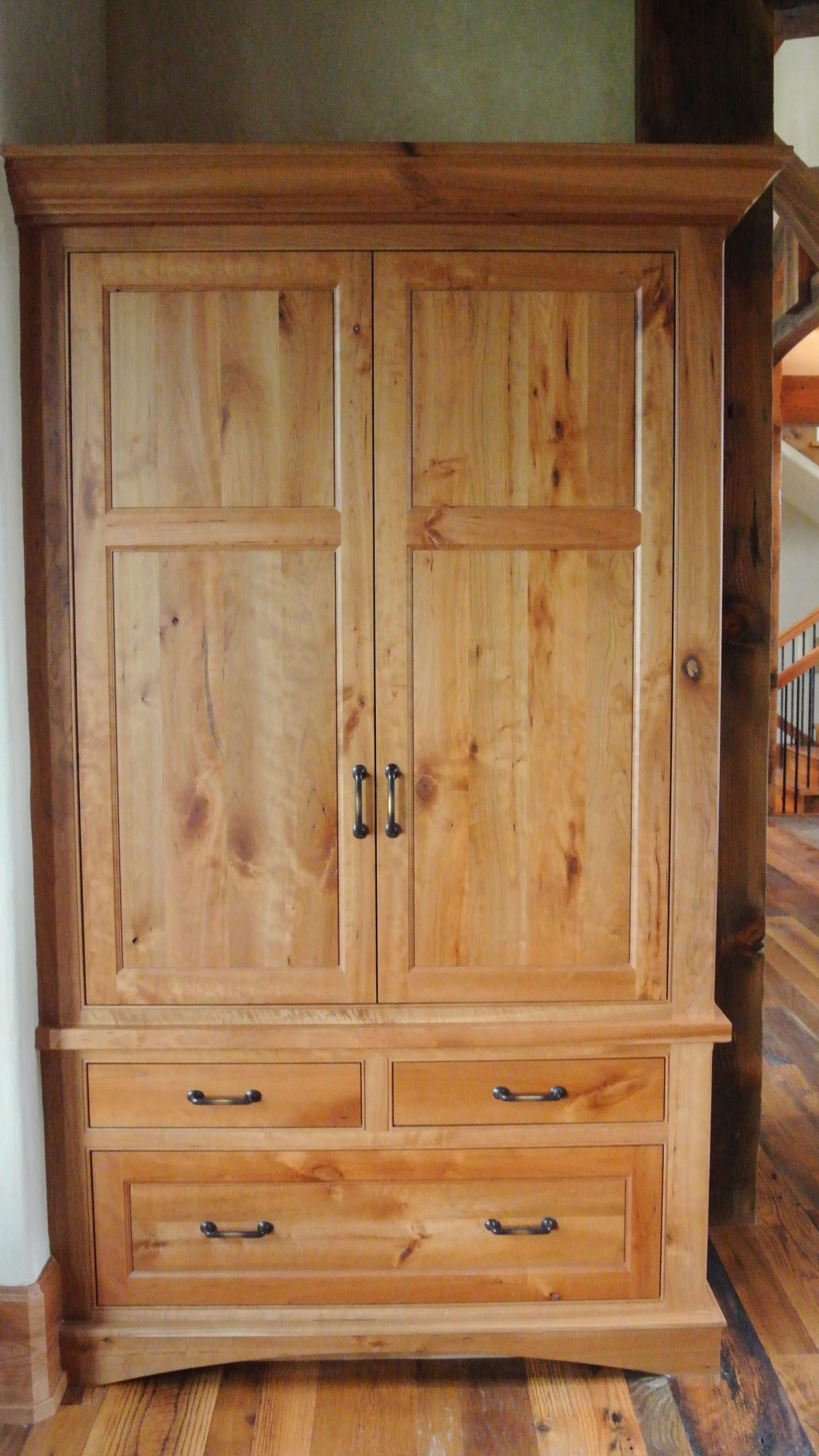 Gorgeous Armoire Wardrobe Cabinet With Custom Woodworking.
