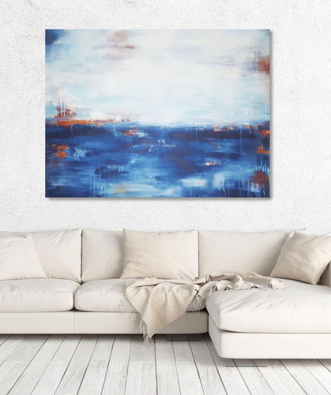 moderne bilder furs wohnzimmer abstrakte malerei kunstatelier maler kunst gelb