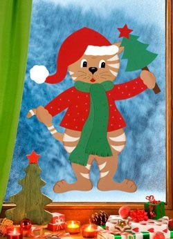 Weihnachtskätzchen Mimi - Barbaras Bastelwelt