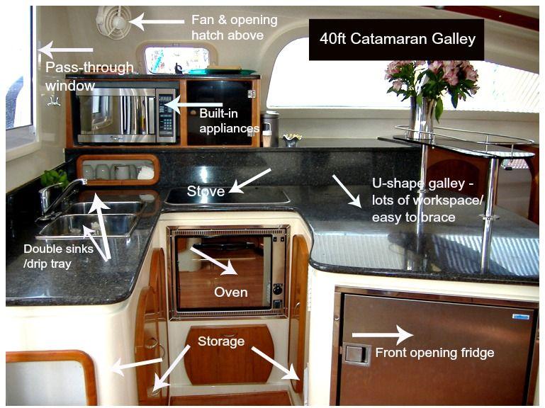 Galley Design Issues on a Catamaran Catamaran Boating and Bridge