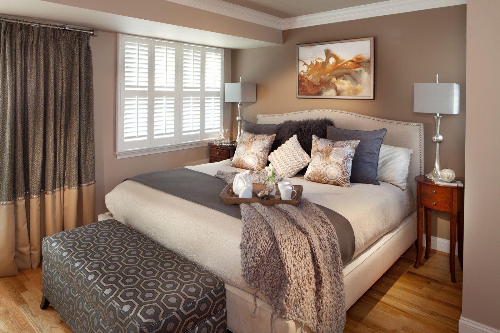 caramel grey bedroom - Google Search | Warm bedroom colors ...