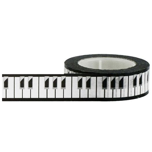 Little B Decorative Paper Tape Piano Keys 15mm Paper Tape Paper Decorations Piano Keys