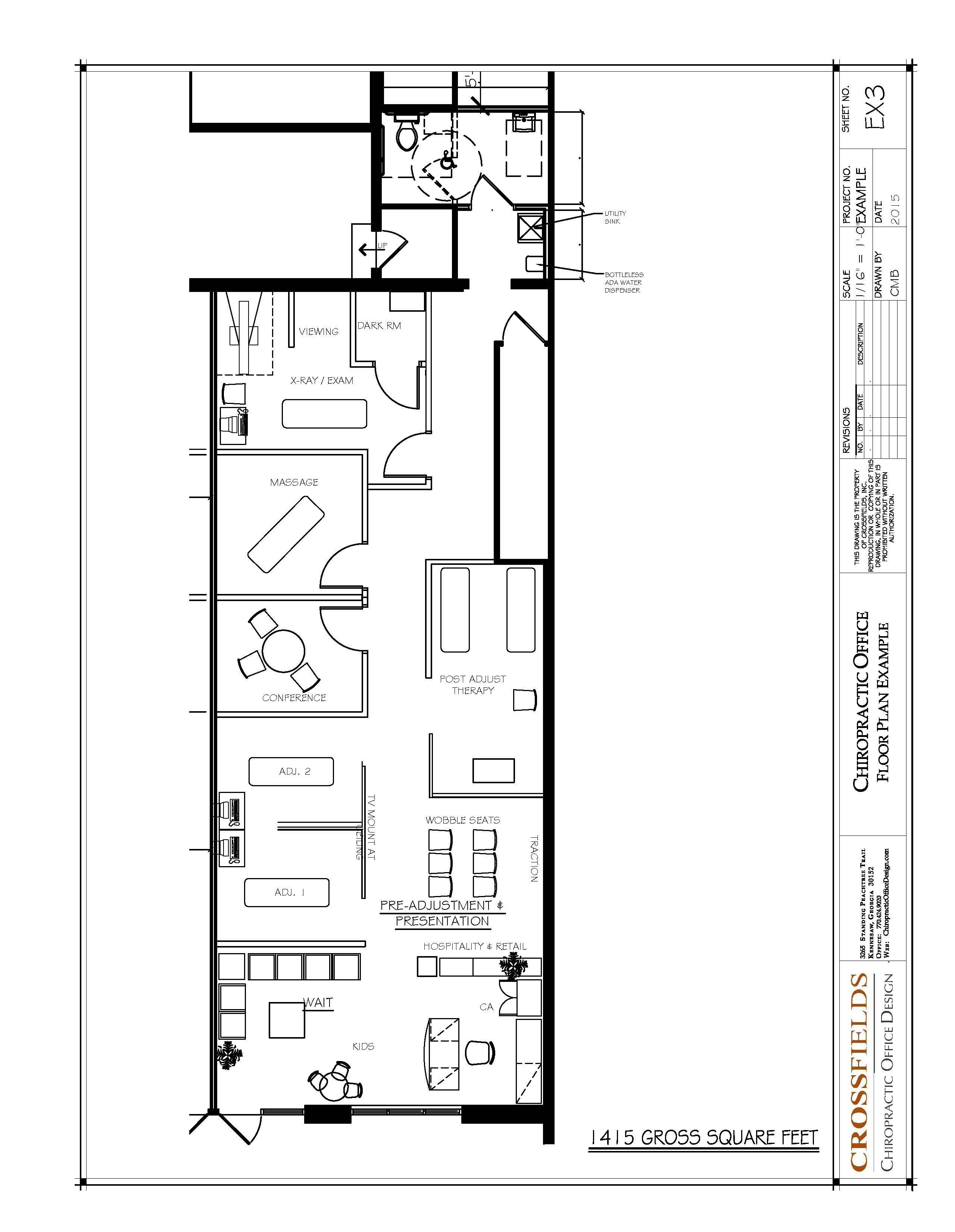 Pin by crossfields chiropractic office design on - Semi open floor plan ...