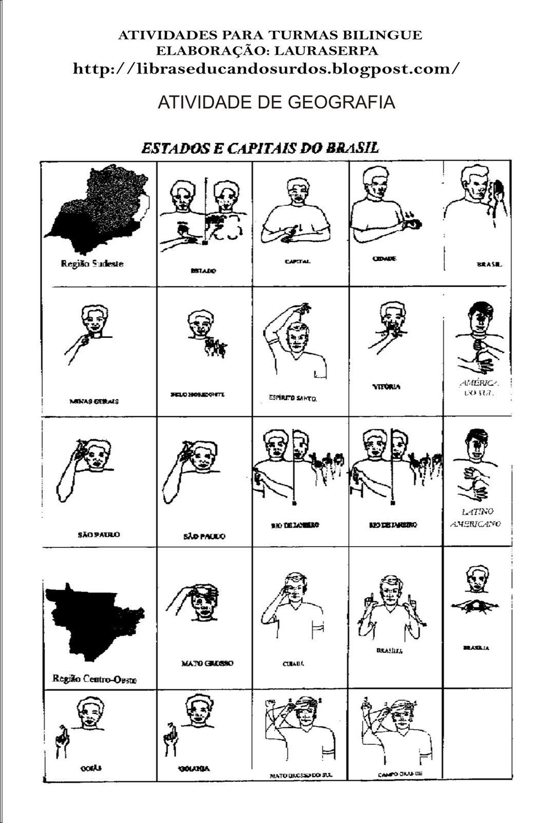 Muitas vezes LIBRAS: Educandos Surdos: Sinais dos Estados Brasileiros | LIBRAS  AU77
