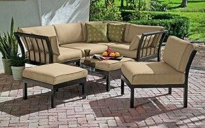 Awesome Ragan Meadow 7 Piece Outdoor Sectional Sofa Set Replacement Cushions