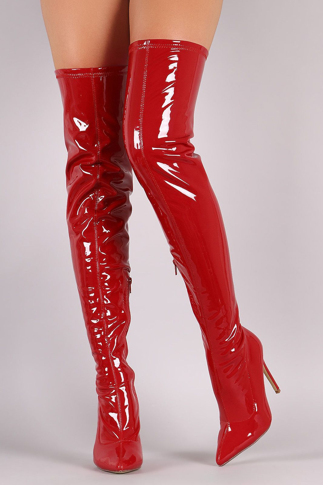 f9bc4380ab6f Liliana Patent Pointy Toe Stiletto Over-The-Knee Boots | Superb ...