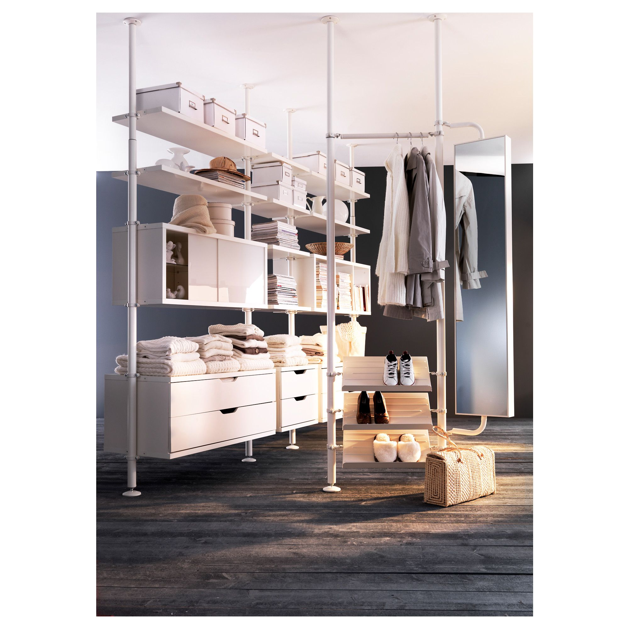 STOLMEN Post IKEA Height adjustable cm - allows you to utilise the entire  ceiling height.