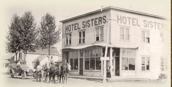 Historic Hotel Sisters In 1914 Oregon