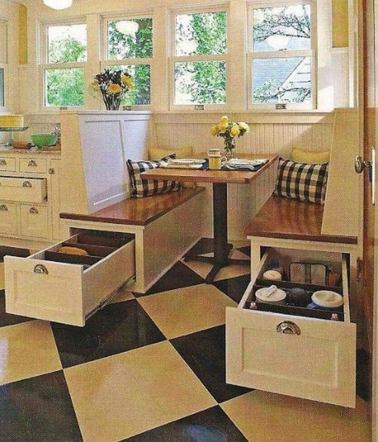 Dining Room Corner Decorating Ideas Space Saving Solutions: 43 Brilliant Space-Saving Solutions And Storage Ideas