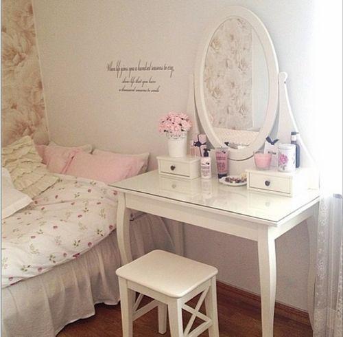 Decora o rosa e branco arbeitszimmer ordnung - Sillas para tocador ...