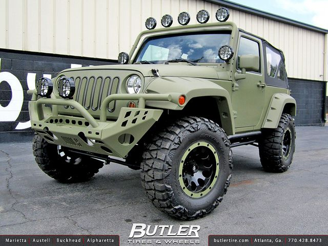 Jeep Wrangler With 17in Atx Ax186 Wheels Jeep Wrangler Jeep Truck Vehicles