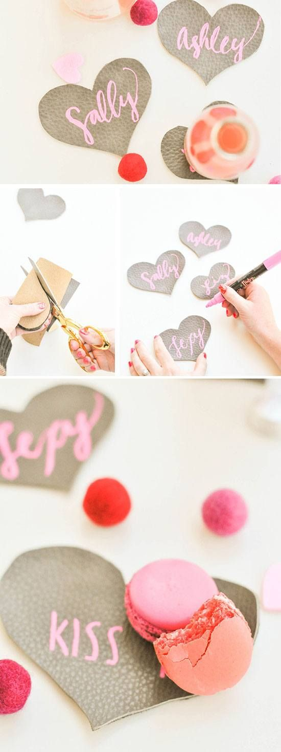 Leather Heart Coasters | DIY Bridal Shower Party Ideas on a Budget