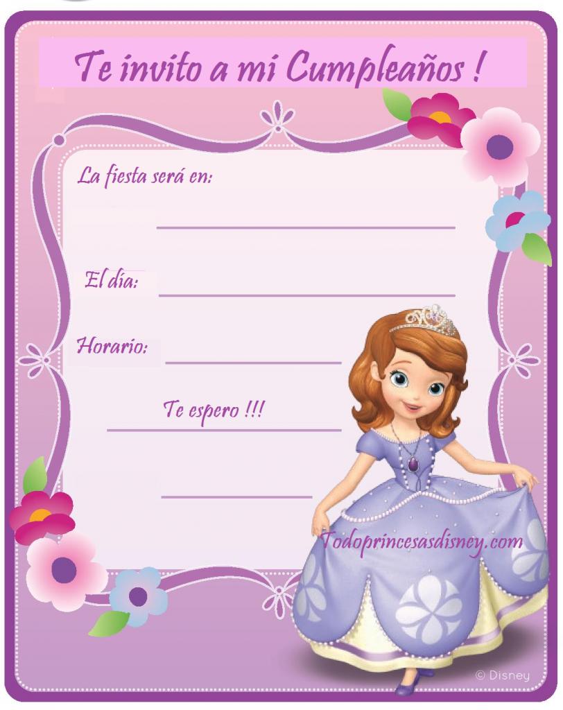 Tarjetas De Invitacion Princesa Sofia Invitaciones Car