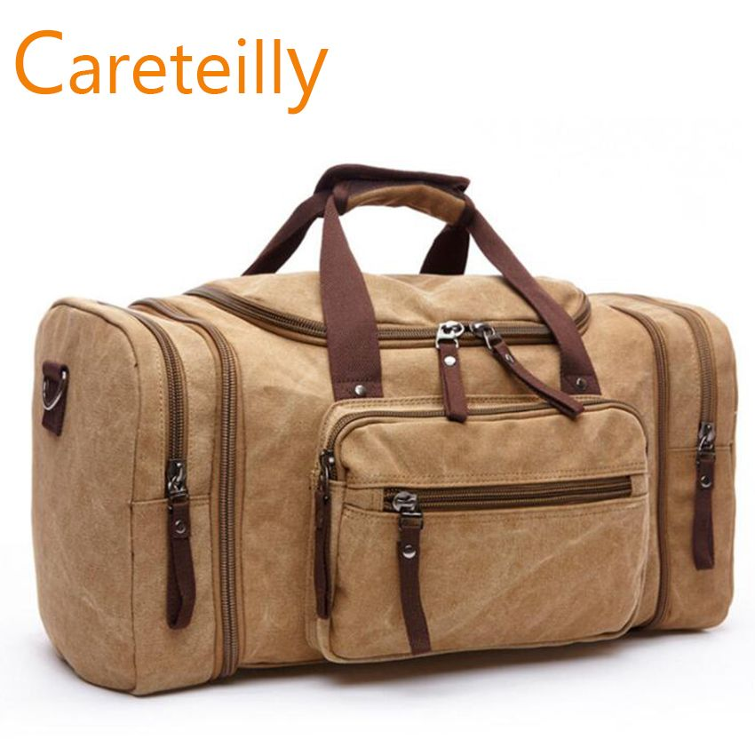 d37da89619a Find More Travel Bags Information about Large Capacity Men Hand Luggage  Travel Duffle Bags Canvas Travel