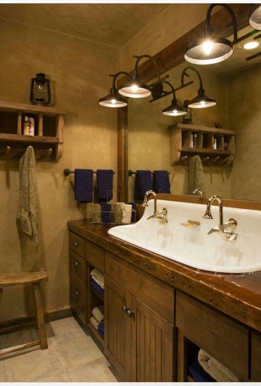26 Impressive Ideas Of Rustic Bathroom Vanity Lodge Bathroom