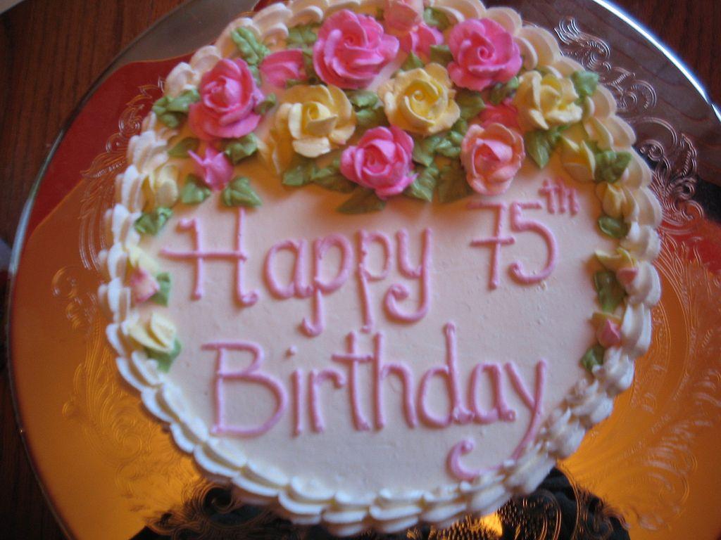 75th birthday cake 75th birthday cakes Birthday cakes and Birthdays