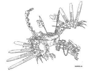 Раскраска Ниндзяго Лего Драконы Мастера созидания | Лего ...