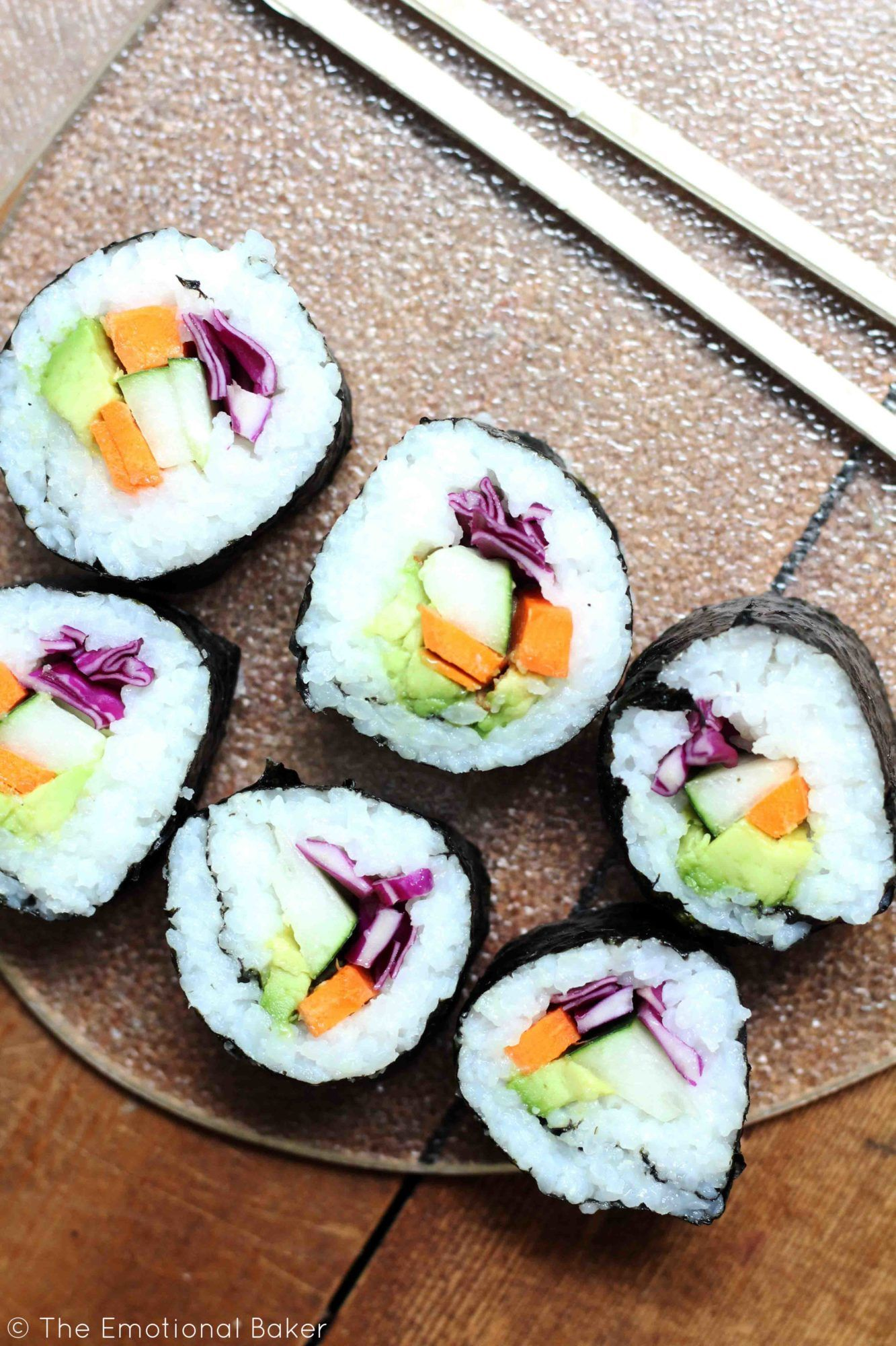 Veggie Sushi Recipe Veggie Sushi Vegetarian Sushi Sushi