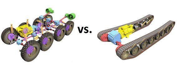 Wheels vs Continuous Tracks