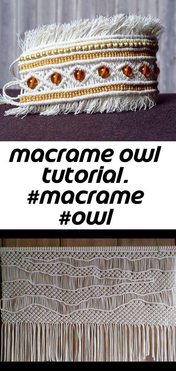 Macrame owl tutorial. #macrame #owl #keychain #keyring #necklace #howto #macrameschool 25 #curtainfringe