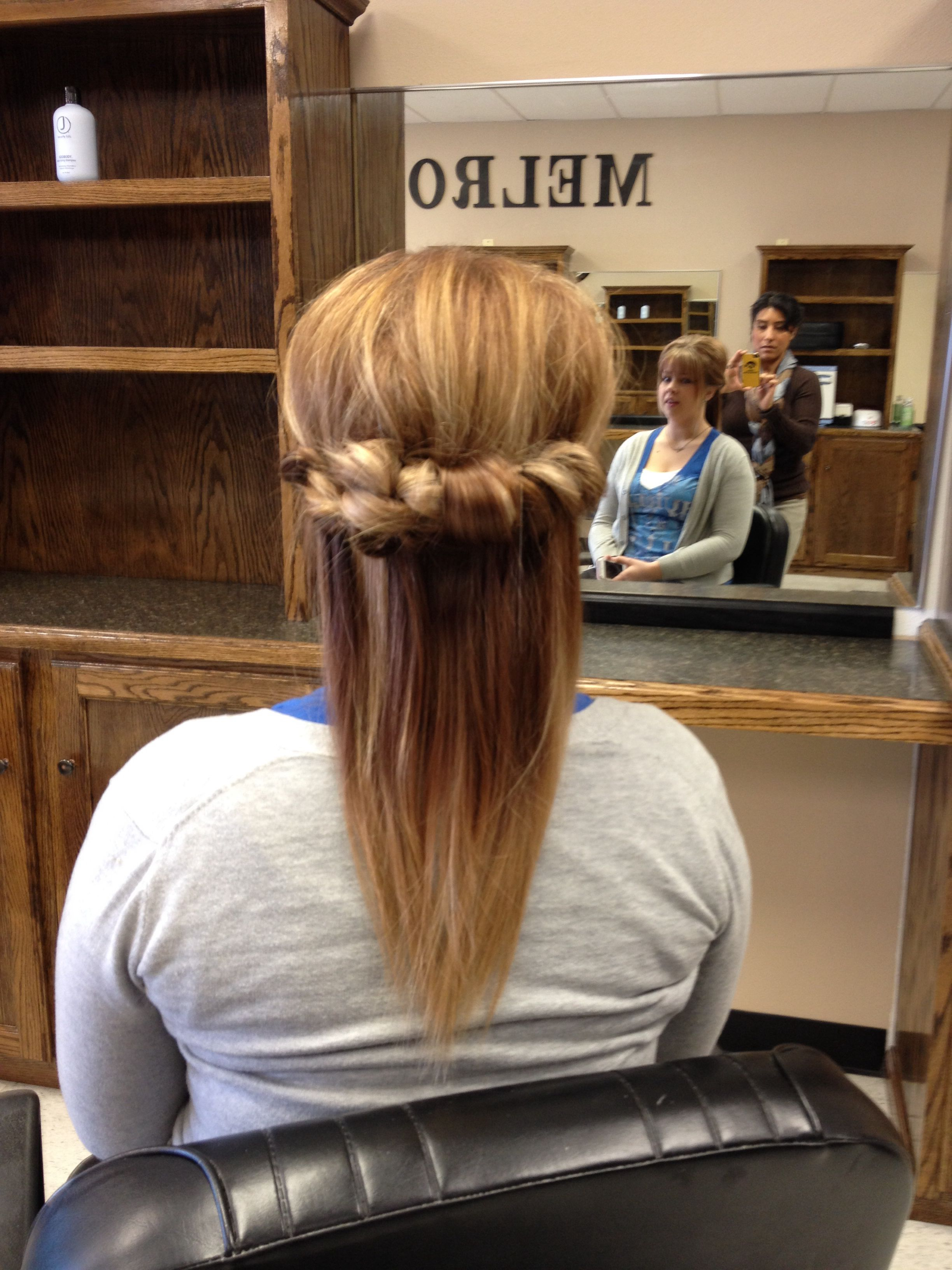 Casual Updo Melrose Barber Salon Cedar Falls Iowa Casual Updo Hair Styles Long Hair Styles