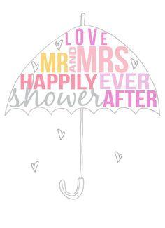Bridal Shower Umbrella Wedding Invitations Favors