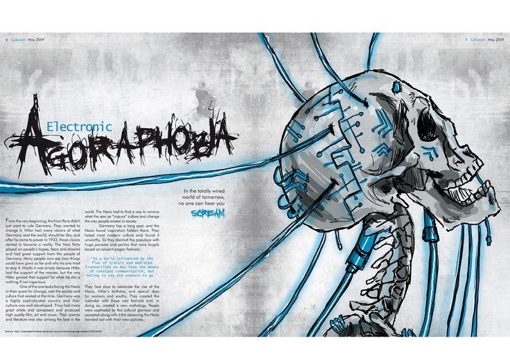 Agoraphobia Magazine Spread | Typography: Magazine layouts ...