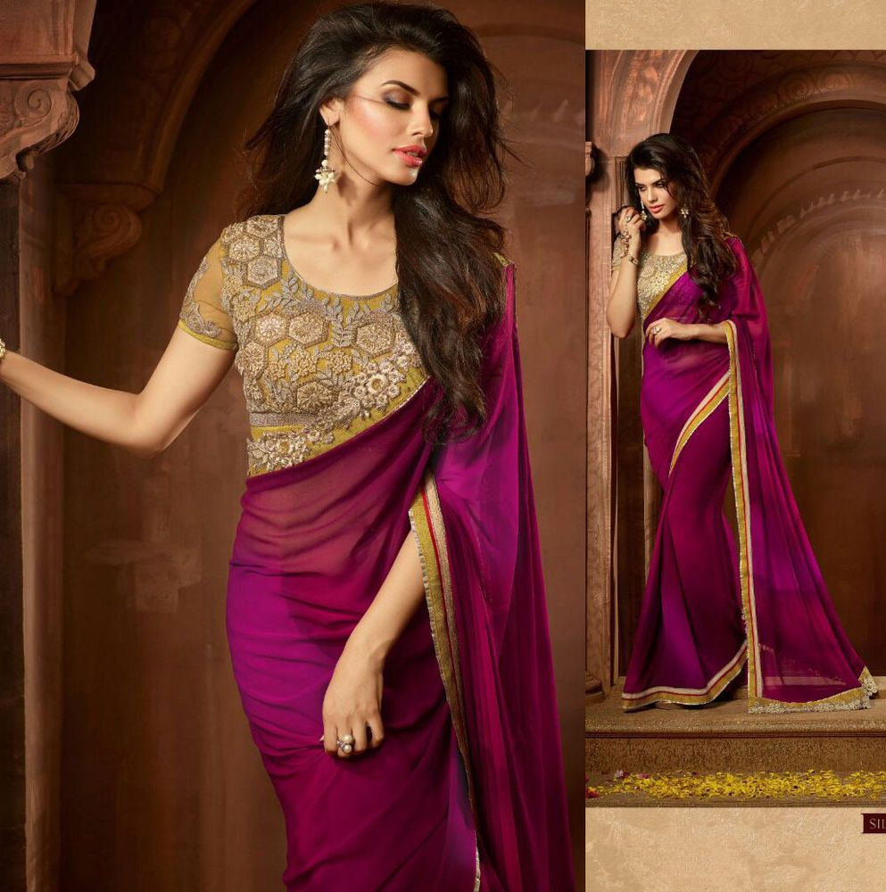 Indian Wedding Bridal Designer Wear Sarees Pakistani Dresses Latest Sari Blouse