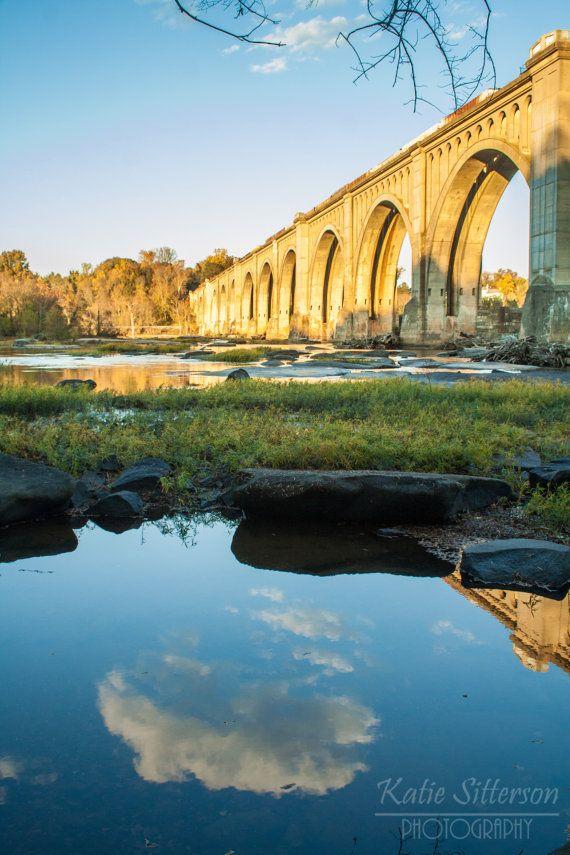 James River Railway Bridge Water Reflections Landscape Photos James River