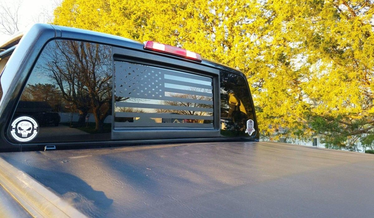 American Flag Back Window Decal 'Murica! Stickit