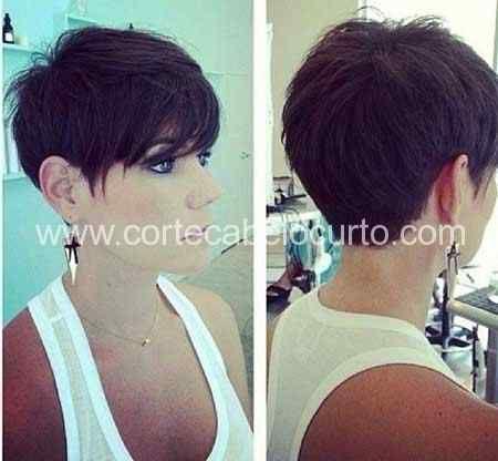 corte-pixie-cabelo-curto-2jpg (450×416) Beleza Pinterest